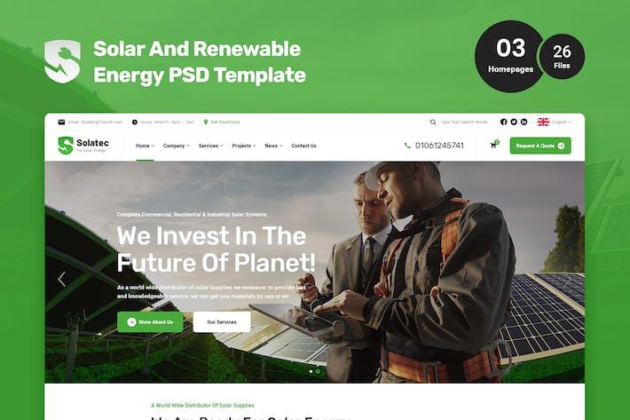 Solatec - PSD-Vorlage für Solar- und erneuerbare Energien