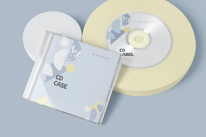 Thumbnail for CD Label & Case Mockups