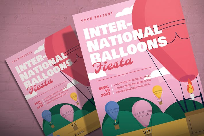 Thumbnail for International Ballons Fiesta - Flyer Template