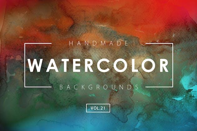 Handmade Watercolor Backgrounds Vol.21