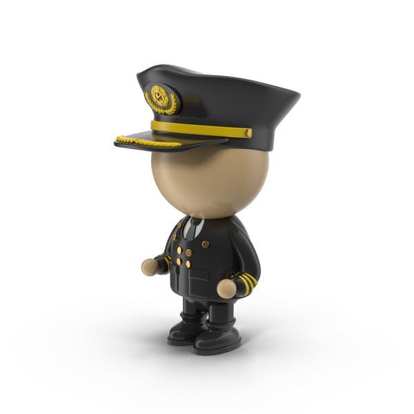 Cartoon Pilot Character