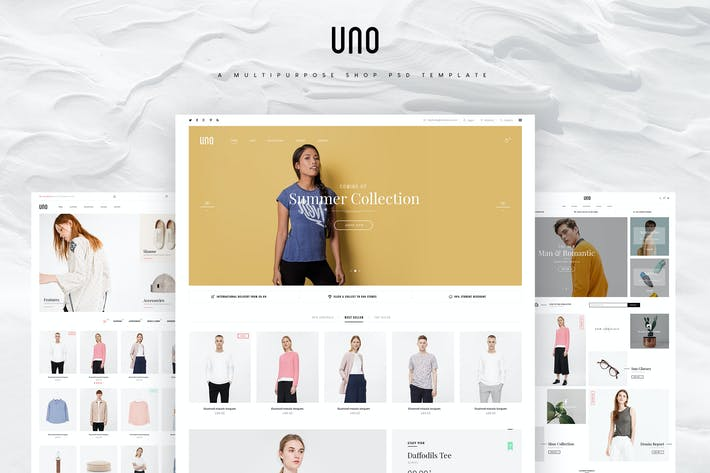 Thumbnail for UNO - A Multipurpose Shop PSD Template