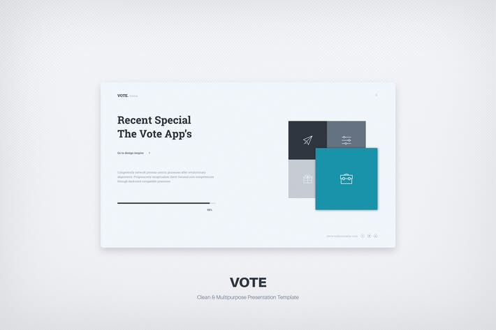 Cover Image For Vote Minimal Business Template (Powerpoint)