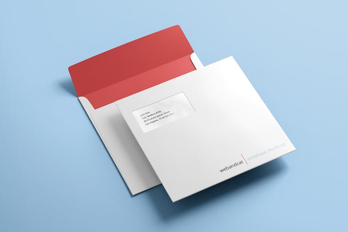 Cover Image For Square Envelope Mock-up