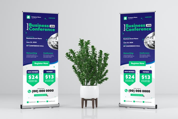 Thumbnail for Business Event Rollup Banner Design