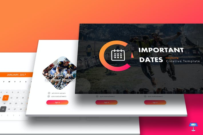 Important Dates - Keynote Template