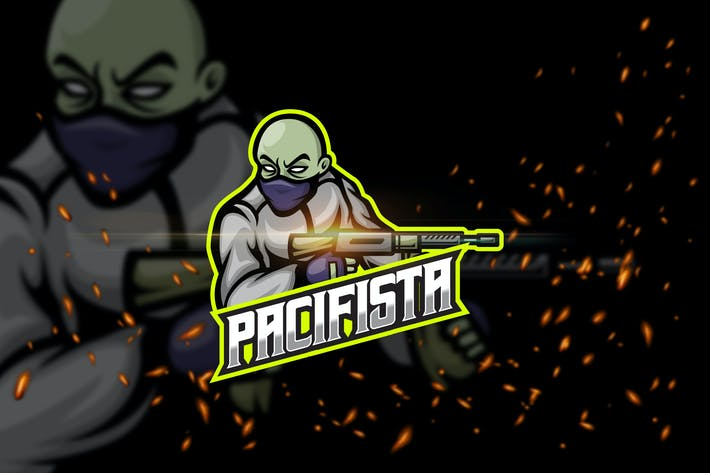 Thumbnail for Pacifista - Shooter eSport Logo Template