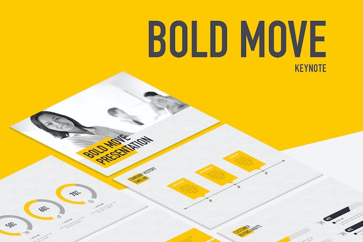 Thumbnail for Bold Move Keynote Template