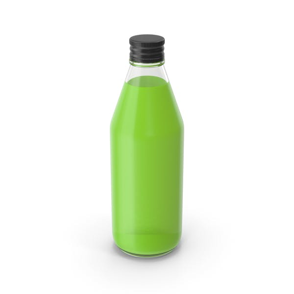 Juice Bottle Green No Label