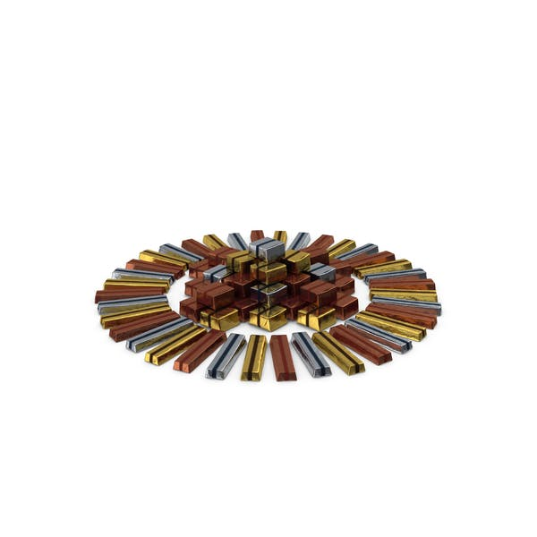 Circular Pile of Wrapped Chocolate Candy