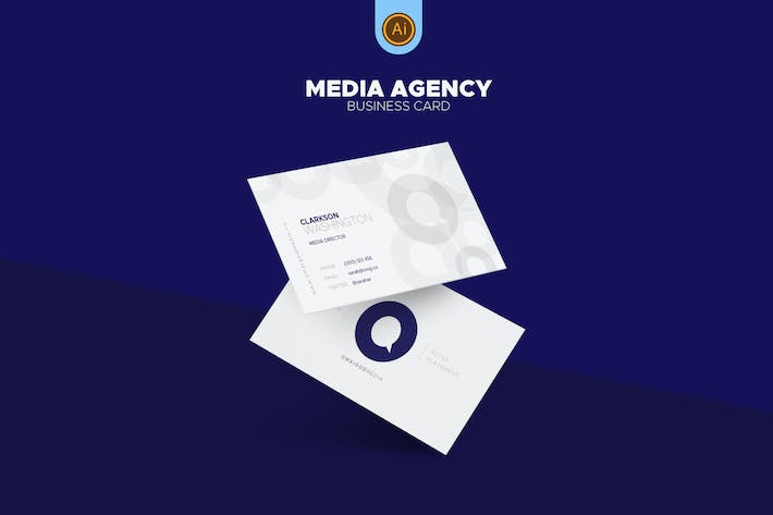 Thumbnail for Media Agency Business Card 04