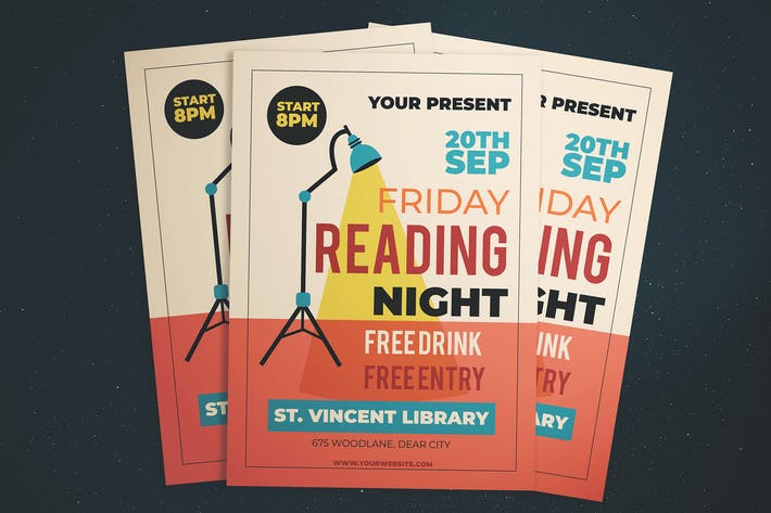 Thumbnail for Friday Reading Night Flyer