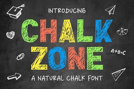 Chalk Zone - a Natural Chalk Font