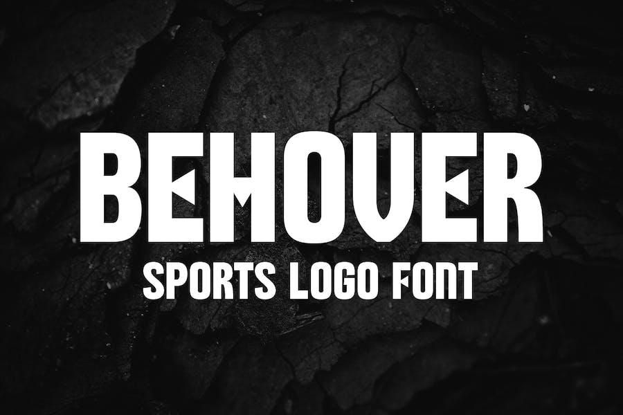 Behover - Sports Logo Font