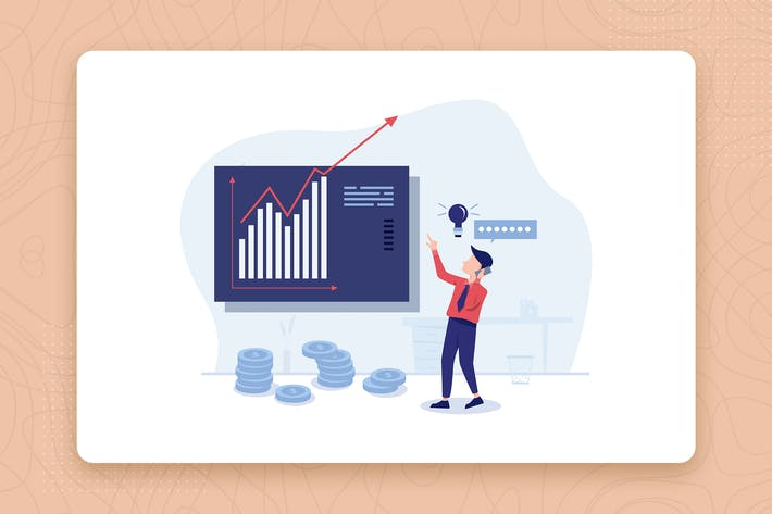 Thumbnail for Increase Revenue flat vector illustration concept