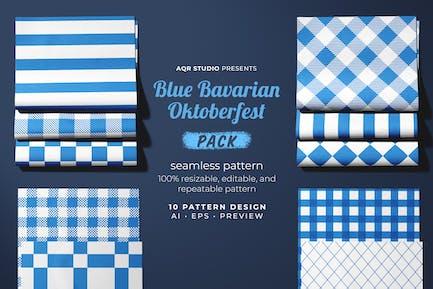 Blue Bavarian Oktoberfest - Seamless Pattern