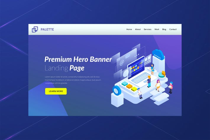 Thumbnail for Palette - Hero Banner Landing Page
