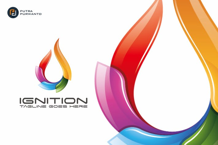 Thumbnail for Ignition / Fire - Logo Template