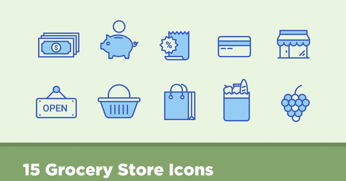 Download 15 Grocery Store Icons by creativevip