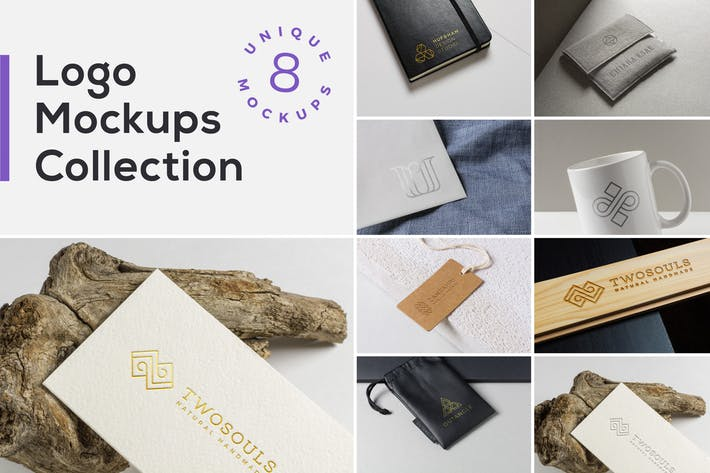 Thumbnail for Logo Mockups Collection Vol. 2