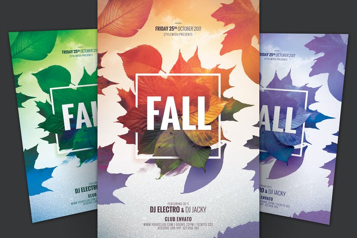 Beautiful Autumn and Fall Flyer Template