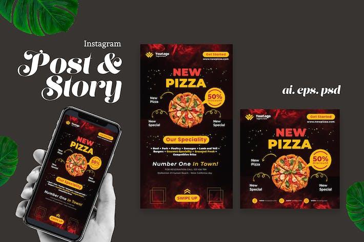 Thumbnail for Pizza Restaurant Instagram Story Post