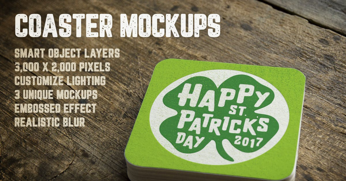 Download Coaster Mockups Volume 1 by DesignPanoply