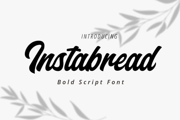Thumbnail for Instabread Bold Script Font