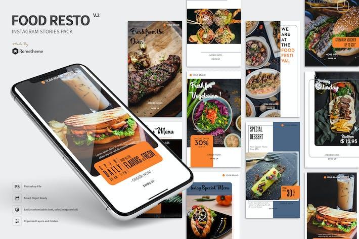 Thumbnail for Food Restaurant Instagram Stories vol. 02