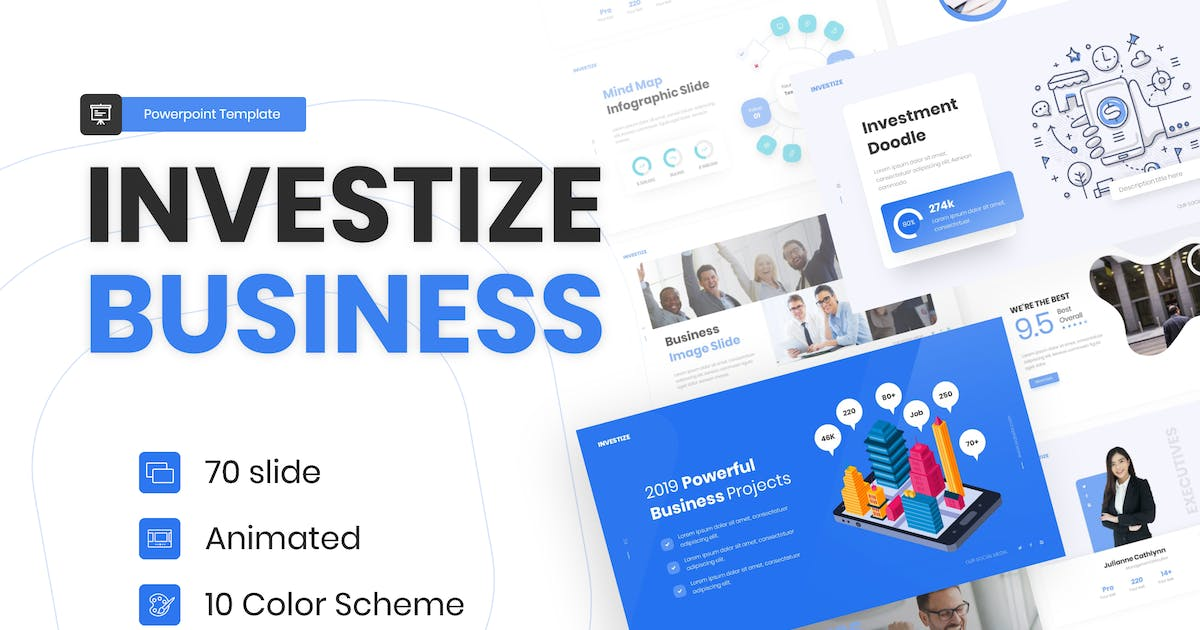 Download Investize Multipurpose Business Template by BrandEarth