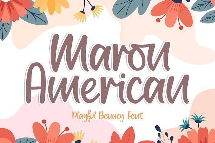 Thumbnail for Maron American Font