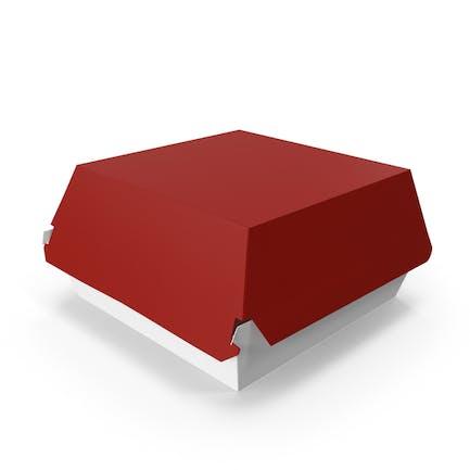 Burger Box Закрытый Красный Белый