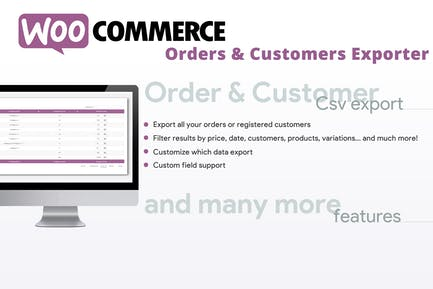 WooCommerce Orders & Customers Exporter