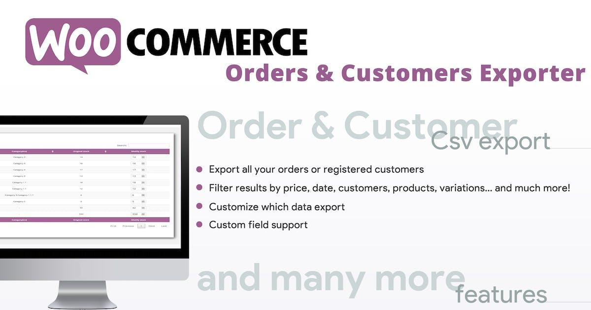 Download WooCommerce Orders & Customers Exporter by vanquish
