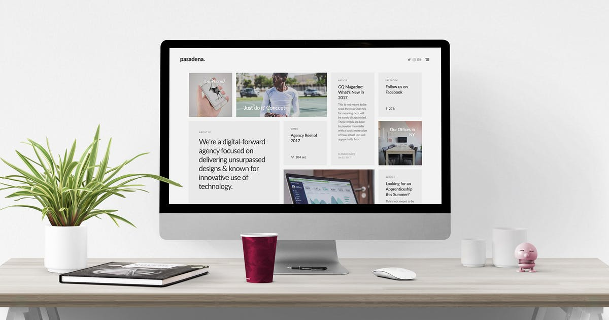 Download Pasadena – Unique Responsive HTML5 Portfolio by weibergmedia