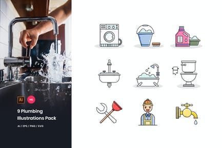 Plumbing Illustrations Pack