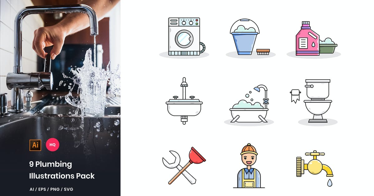 Download Plumbing Illustrations Pack by StringLabs