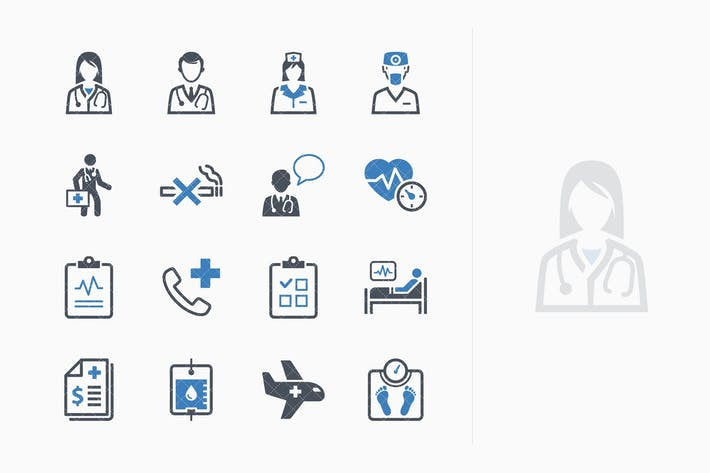 Thumbnail for Medical Services Icons Set 2 - Blue Series