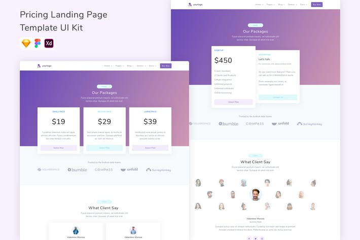 Thumbnail for Pricing Landing Page Template UI Kit