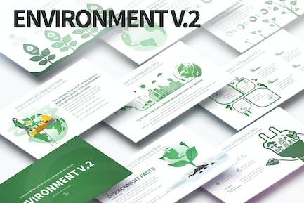 Environment V.2 - PowerPoint Infographics Slides