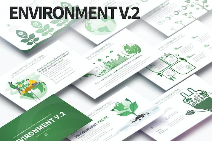 Thumbnail for Environment V.2 - PowerPoint Infographics Slides
