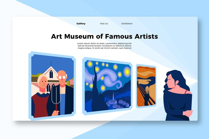 Thumbnail for Most Famous Painting - Banner & Landing Page