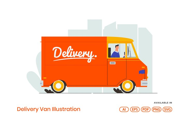 Thumbnail for Delivery Van Illustration