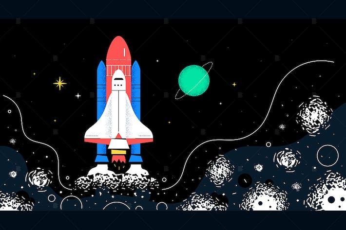 Thumbnail for Weltraum - flache Design-Stil Illustration