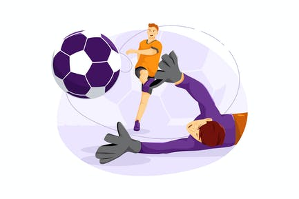 Fußball-Vektor Illustration Konzept