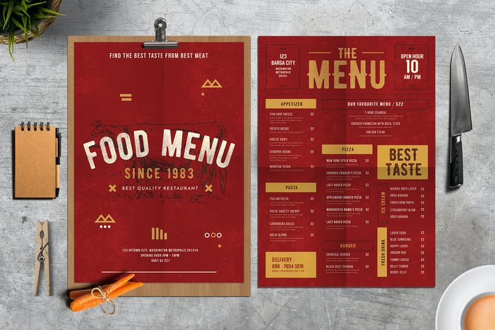 Thumbnail for Rustic Food Menu