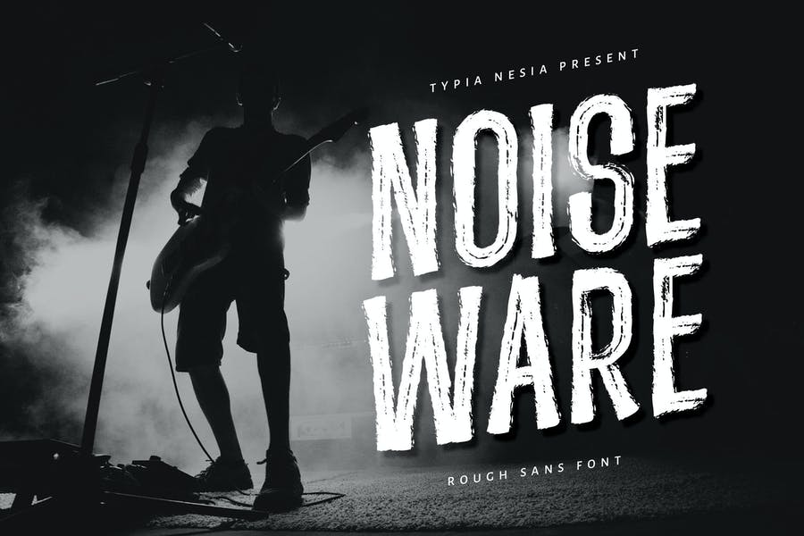 Noiseware - Handbrushed Font