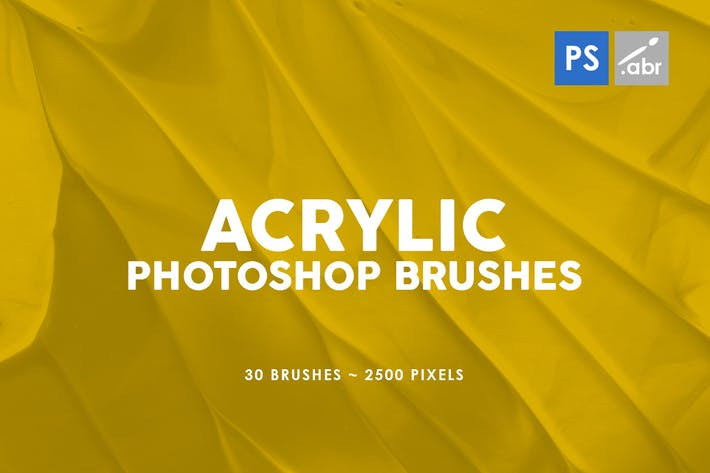 Thumbnail for 30 Acrylic Photoshop Stamp Brushes Vol. 3