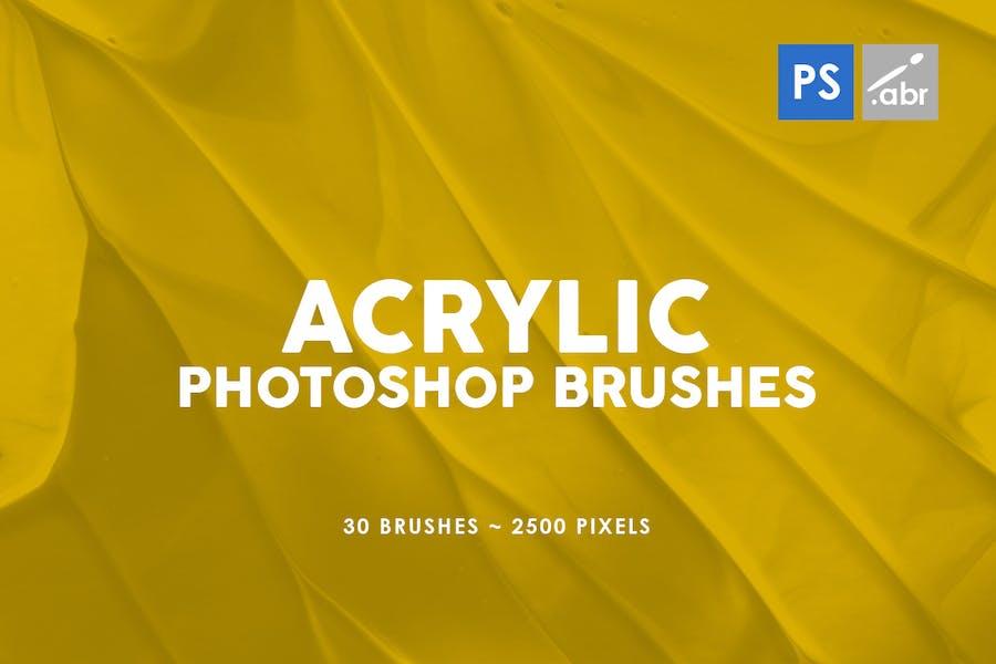30 Acrylic Photoshop Stamp Brushes Vol. 3