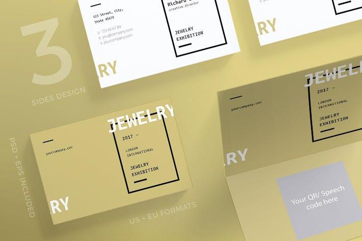 Thumbnail for Выставка ювелирных изделий Шаблон визитной карточки